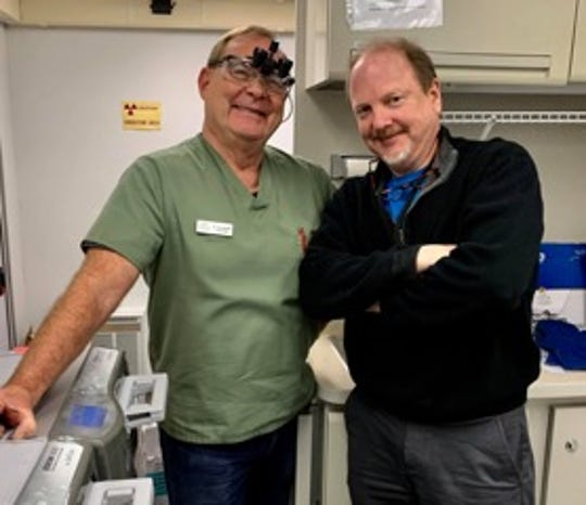 """Dr. James E. """"Randy"""" Ransdell III is pictured at left."""