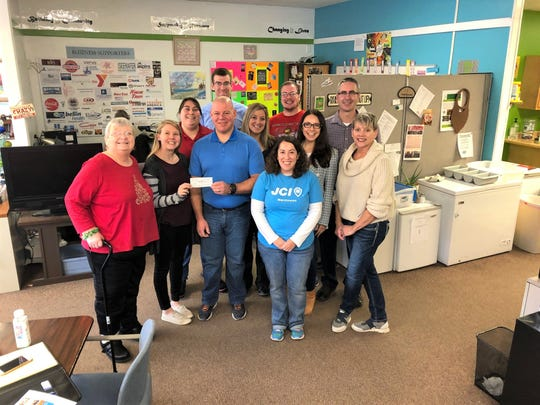 Manitowoc's Painting Pathways Clubhouse recently received a donation to assist with a computer upgrade. Pictured from left, row one:Alice B., Amber Hutchison, Sam and Andrea Busse and Linda Keeacher; row two: Charlotte Toebe, Brittany Shimek and Courtney Pelot; and row three: Eric Dunkel, Justin F. andChris Schultz.