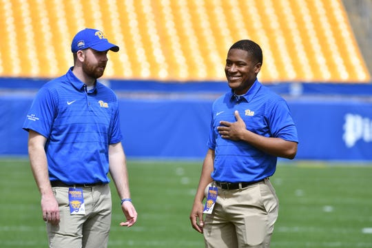 Memphis native Ronald Booker (right) is an Offensive Graduate Assistant for the University of Pittsburgh football program. Prior to coming to the Panthers, Booker coached at Rhodes College.