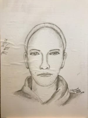 The West Allis Police Department released this sketch of one suspect in the Sept. 15 killing of Ryan Sorensen, 33, of Onalaska. She has been described as described as white, with a larger build, shorter blond hair worn in a bun with strands of pink and blue hair at the base of the bun. She was last seen wearing tight pants and a black hooded sweatshirt.