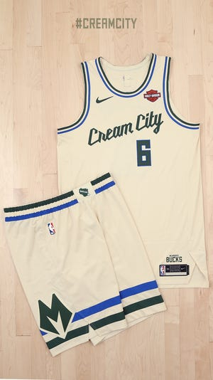 These images are of the 2019-2020 Milwaukee Bucks uniforms, photographed at the Froedtert & the Medical College of Wisconsin Sports Science Center, on September 28, 2019  in Milwaukee, Wisconsin.