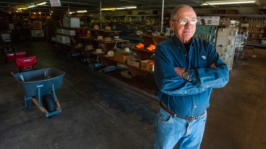 Don Strength, shown on Wednesday November 20, 2019, is retiring after over 40 years of running Red Arrow Hardware in downtown Prattville, Ala.