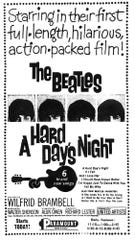 """Paramount Theater placed an ad in the Aug. 5, 1964 issue of the Tennessean to promote The Beatles' first full-length movie, """"A Hard Day's Night"""" started that day."""