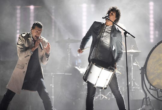 """For King & Country performs """"Little Drummer Boy"""" during the taping of """"CMA Country Christmas"""" at the Curb Center on Belmont campus Wednesday, Sept. 25, 2019, in Nashville, Tenn."""