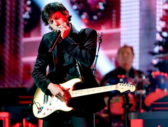 """Chris Janson performs during the taping of """"CMA Country Christmas"""" at the Curb Center on Belmont campus Wednesday, Sept. 25, 2019, in Nashville, Tenn."""