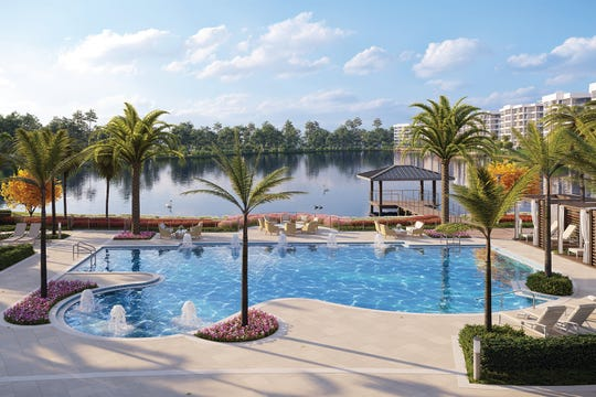 Resort-style pool, cabanas and Bistro are just a few of the many amenities at Moorings Park Grande Lake.