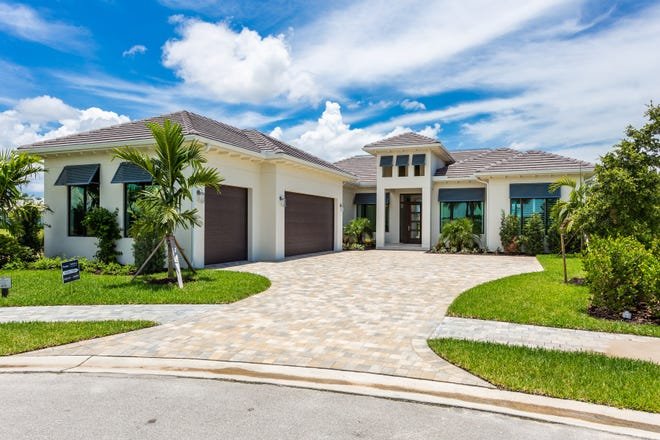 Exterior view of the Caprina model in the Peninsula at Treviso Bay.