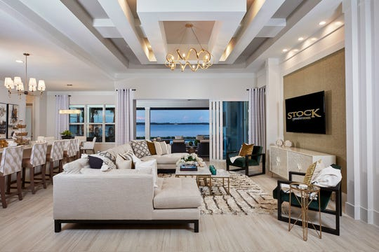Clive Daniel Home interior designers provided interior furnishings for the 3,277-square-foot under air luxury single-story home, with pricing from the $600,000s.