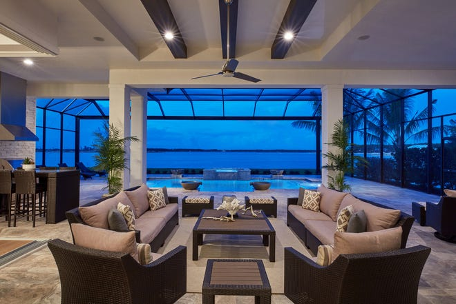 Vogue Interiors has completed the interior design for Stock Development's furnished Madison II model at the Wild Blue community.