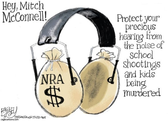NRA ear muffs for McConnell?