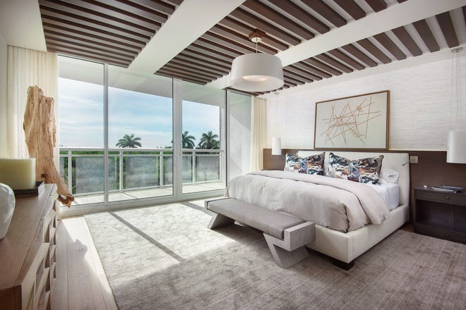 Ceiling details such as those found in the master bedroom are hallmarks of the design of the Modern Zen model.