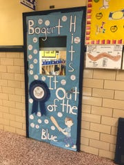 Classes held a competition to decorate their doors in honor of the week's celebration.