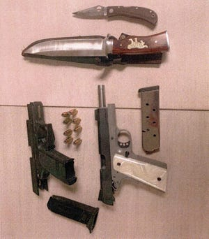 Weapons found on two Chaparral Middle School students on Nov. 20.