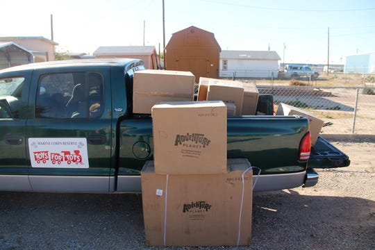 A portion of the first toy shipment from the Toys for Tots Foundation arrived Nov. 18.