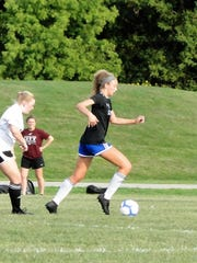 Andrea Williams is another senior on Lyon FC who plays for South Lyon in the spring.