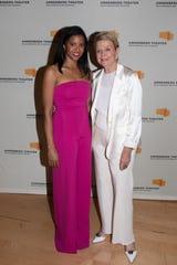 Renée Elise Goldsberry poses with Donna J. MacMillan.