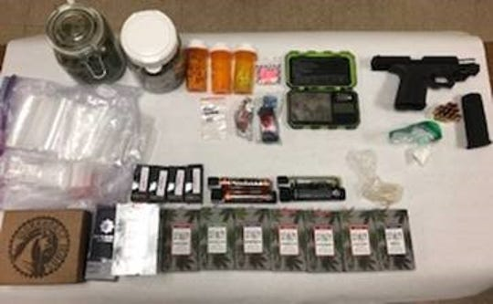 These narcotics and handgun were confiscated after investigators responded to a traffic collision at Highway 111 and Washington Street in La Quinta on Nov. 20, 2019. Indio resident Francisco Granada is accused of possessing them, investigators said.