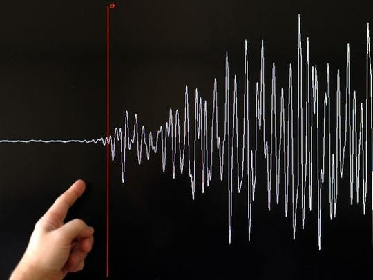 Aftershocks continued after a magnitude 4.9 earthquake shook Southern California Friday, April 3, 2020. The earthquake was centered near Anza and aftershocks continued for days.