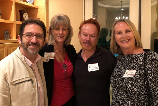 Donors Lorenzo, Beth, Tim and Diane attend the launch party of 150 Circle of Giving on Nov. 9.