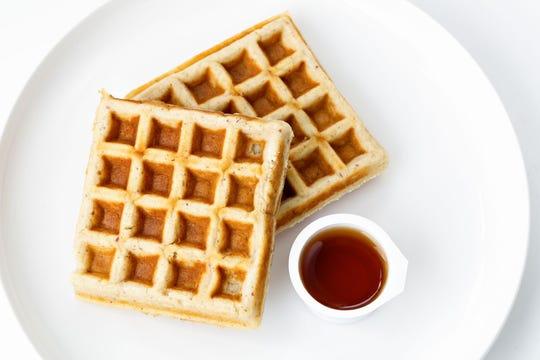 Healthy Coast Meals' breakfast protein waffle meal.