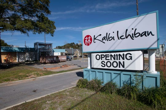 Construction on the new Kalbi Ichiban restaurant in downtown Pensacola is underway Wednesday.