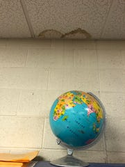 A leaking roof at Pima Junior High in eastern Arizona means that when it rains outside, it rains inside, too.