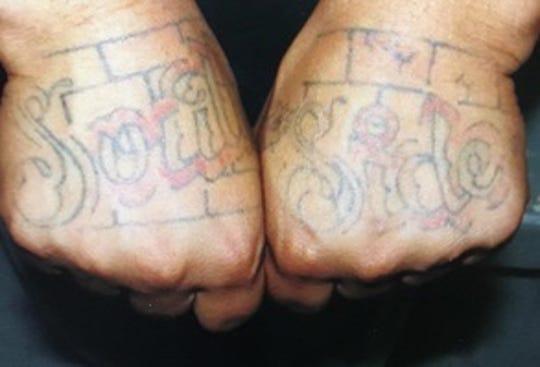 Kevin Billinger's hand tattoos