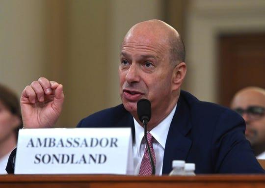 Gordon Sondland, embajador de EEUU ante la Unión Europea.