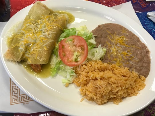 One of the lunch specials at the Casa Imelda Mexican Restaurant as seen, Tuesday, November 19, 2019, in Cedar Grove, Wis.