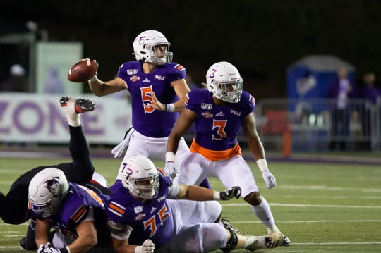 Photo: Quarterback Shelton Eppler (5) is one of 22 Northwestern State seniors who will play his final game as a Demon on Thursday night against Stephen F. Austin.