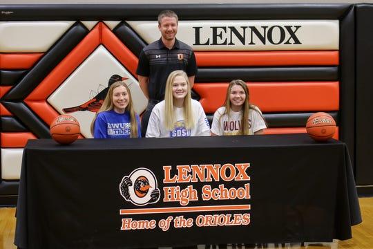 Lennox: Isabel Ihnen, Dakota Wesleyan; Madysen Vlastuin, South Dakota State; and Rianna Fillipi, Northern State.