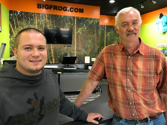 Big Frog T-Shirts, opening Wednesday on West 41st Street, is owned by father-son team Ryan and Ethan Corbin. The store offers direct-to-garment printing for custom orders.