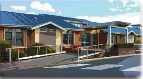 A rendering of a new assisted living facility included in Delbert and Christina Clevenger's application for a certificate of need from the state.
