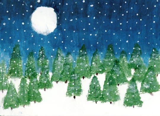 """Snowy Trees"" - Emma Snow, Nixa"