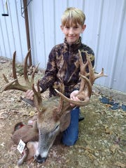 Kaden Sheat, 11, killed his biggest deer yet - a 22-point buck - during this year's youth hunt.