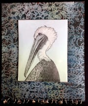 Pelican art by Kathy Wilcox, who is part of the Under One Roof show at Goodwood this weekend.