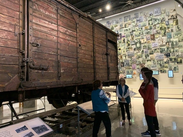Students from Maclay visit the Florida Holocaust Museum in St. Petersburg.