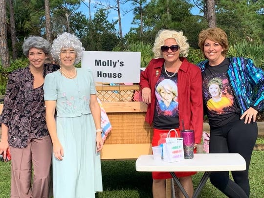 Molly's House entered the 2019 Family Promise Bed Race and won the People's Choice award. Pictured are, from left, Jaclyn Uhl, Julie Collins, Amber Ducote, and Jennifer Wojcieszak.