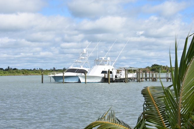 Two yachts docked in the Fort Pierce Inlet in Fort Pierce, Fla., are pictured Saturday, Nov. 16, 2019.