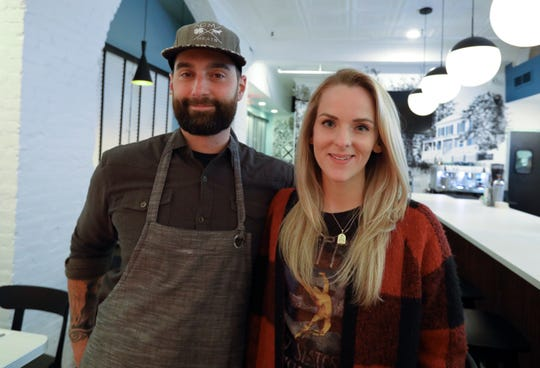 Christina and Matt Safarowic at the new Jay Street Cafe in Katonah Nov. 19, 2019. The two are also the couple behind The Whitlock up the street.
