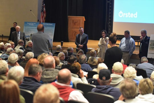 State and company officials field questions and concerns about a potential partnership between Delaware and an offshore wind company.