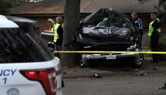 Wichita Falls police work the scene of a major accident, Wednesday morning near the corner of Seymour Road at Hiawatha Dr.