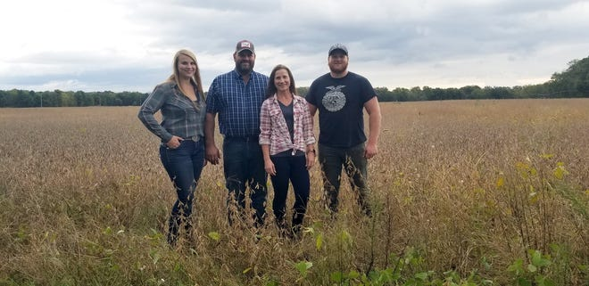 The Lake Family (from left): April, Kelly, Jeff and Jake Lake of Boyceville in Dunn County, recipients of the 2019 Leopold Conservation Award.