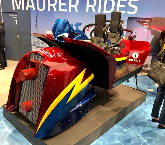 Carnival Cruise Line and Maurer Rides revealed the vehicle for Bolt, the first roller coaster at sea. It will thrill passengers aboard the new Mardi Gras, which is set to sail in 2020.