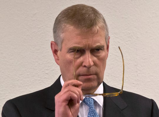 Prince Andrew in January 2015 prior to his speech to business leaders at World Economic Forum in Davos.