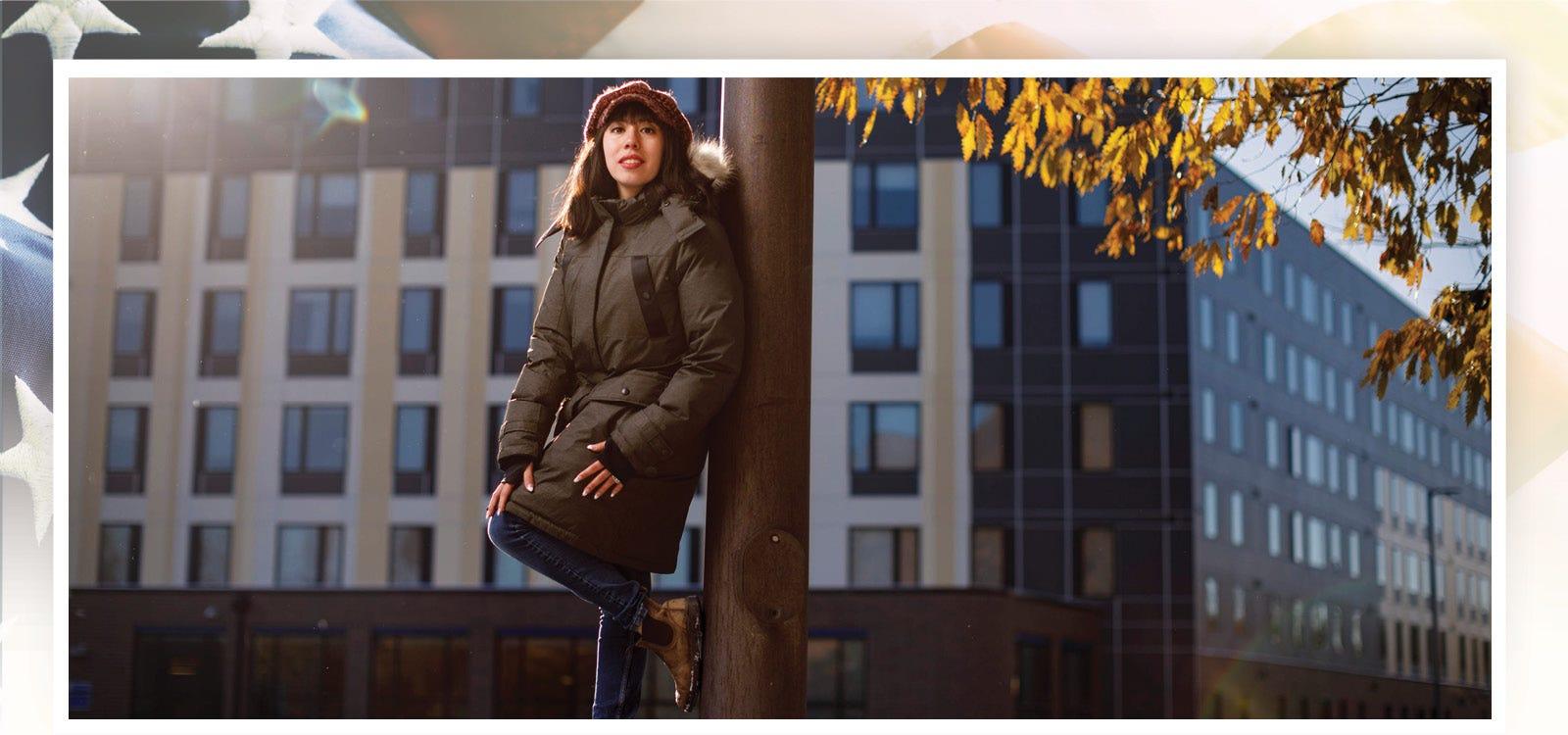 Student Leslie Hurtado is photographed on the campus of Northeastern Illinois University on Nov. 12, 2019.