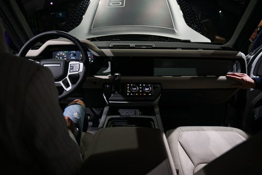 The interior of the new Land Rover Defender.