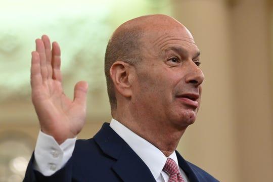 Gordon Sondland is sworn in Nov. 20.