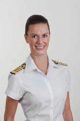 Capt. Kate McCue was the first American female cruise ship captain in 2015.