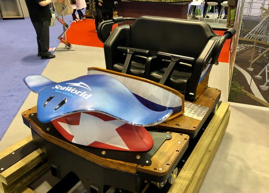 Great Coasters International and SeaWorld San Antonio revealed the lead vehicle of Texas Stingray, which will debut at the park in 2020.